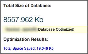 WP-Optimize-result