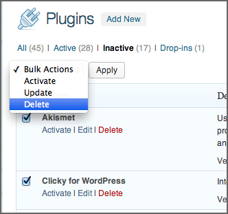 Bulk Delete WordPress Plugins
