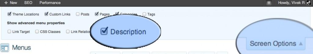 Enable-menu-description-WordPress