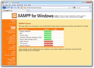XAMPP Configuration Menu