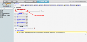 Create New Database via PhpMyAdmin