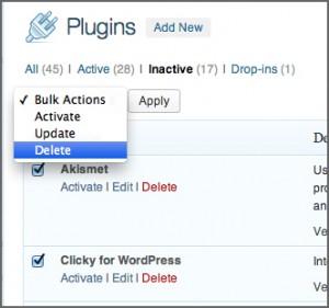 Bulk Delete WordPress Plugins