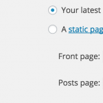 WordPress: Using Custom Page as Homepage